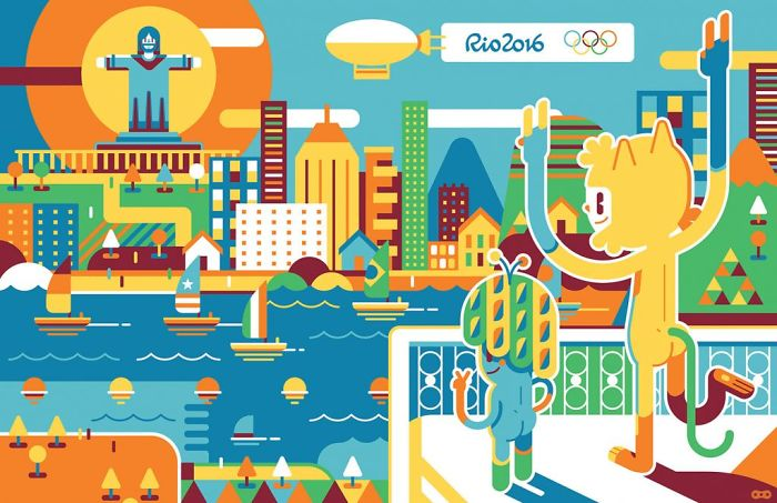 42 Artists Joined To Illustrate The Olympic Games In Rio This Year
