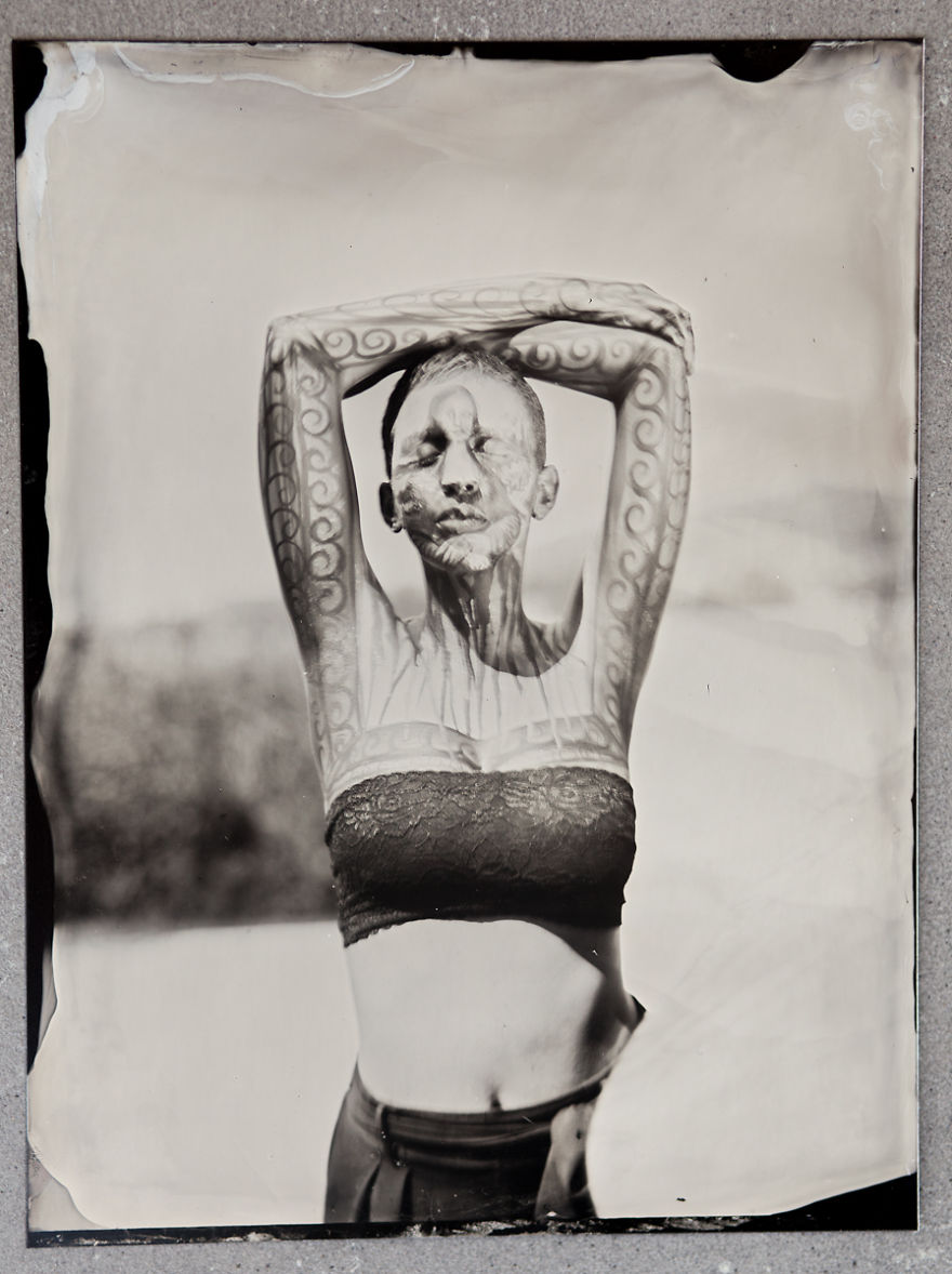 I Photographed World Body Painting Festival In Austria Using Wet Plate Collodion Technique