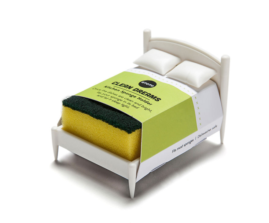 This Sponge Holder Is A Miniature Bed So That Your Sponge Could Have Some Rest