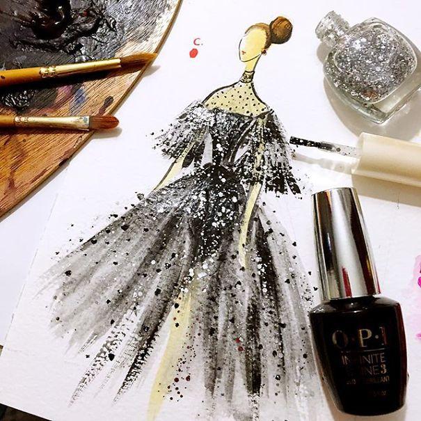 Мода Фантазия из бутылки Лак для ногтей
