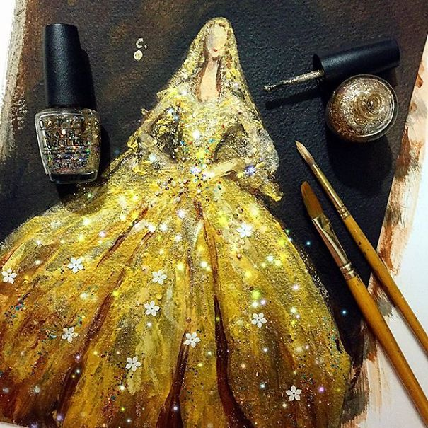 Fashion Fantasy From Bottles Of Nail Polish