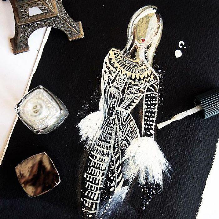 Fashion Fantasy From Bottles Of Nail Polish