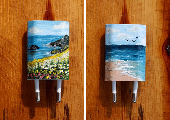I Paint On iPhone Chargers Using Nail Polish | Junk Host