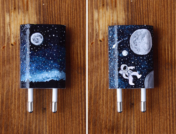 I Paint On iPhone Chargers Using Nail Polish