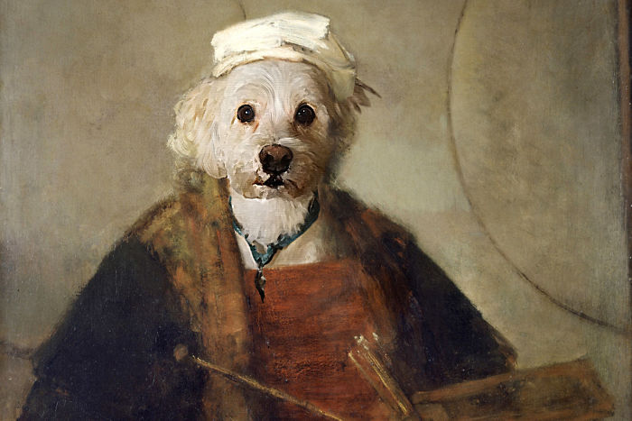 Rembrandt Self Portrait As A Poodle