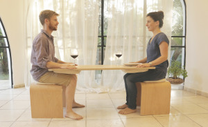 I Designed A Table That Requires You To Be Fully Present While Eating By Connecting You To Your Dining Partner