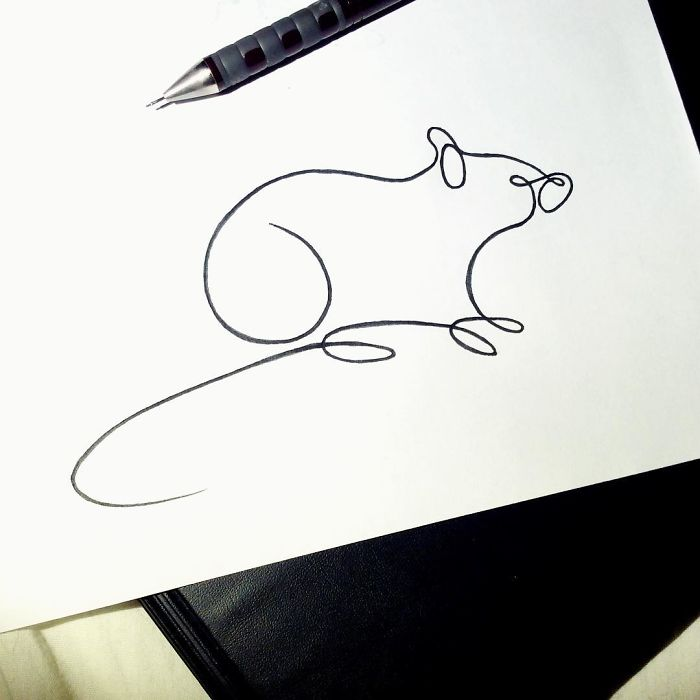 Minimal art drawings made with just one line online for Minimal art online