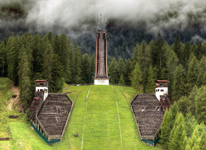Ski Jump Tower, Cortina  D'ampezzo, Italy, 1956 Winter Olympics Venue