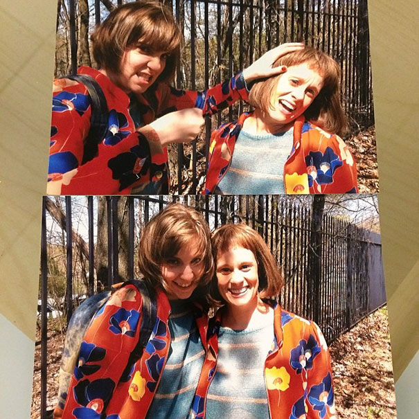 Lena Dunham And Stunt Double Myra 'Dakota' Bown On The Set Of Girls
