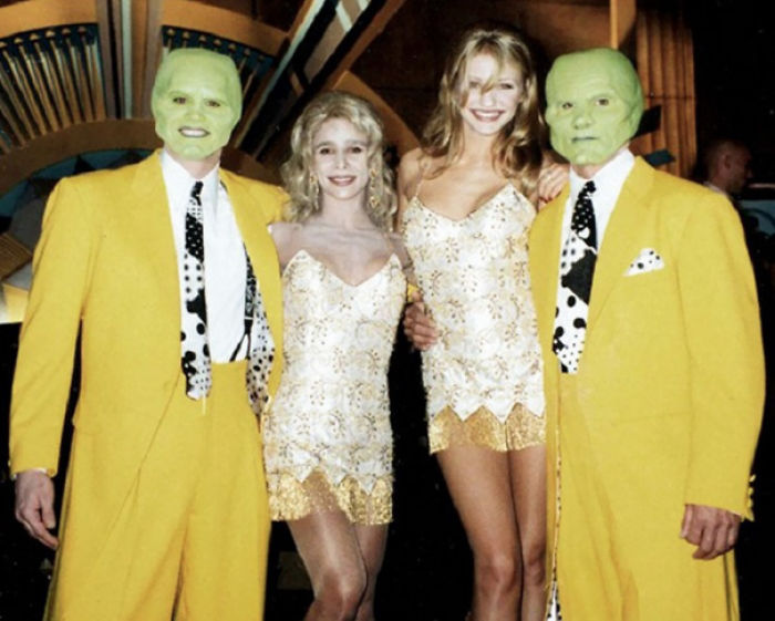 Jim Carrey, Cameron Diaz, And Stunt Doubles On The Set Of The Mask