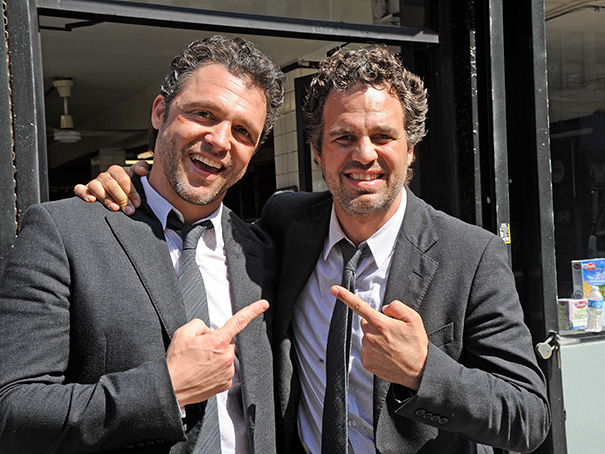 Mark Ruffalo And His Stunt Double Anthony Molinari On The Set Of Now You See Me