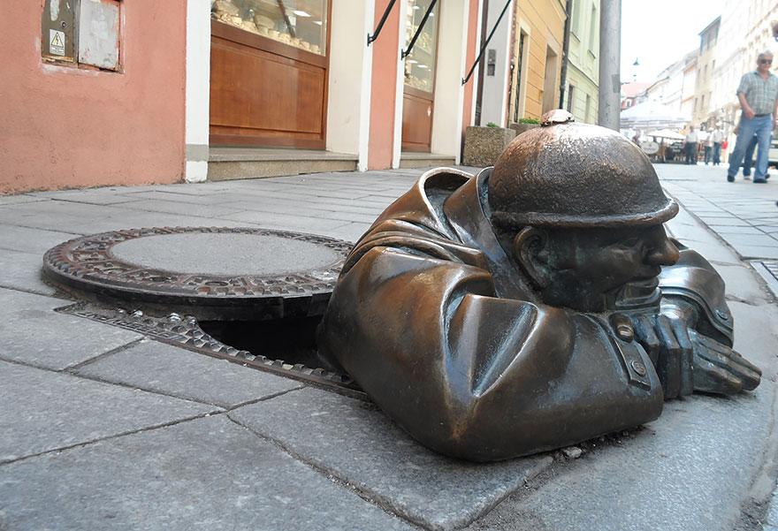 Man At Work, Bratislava, Slovakia