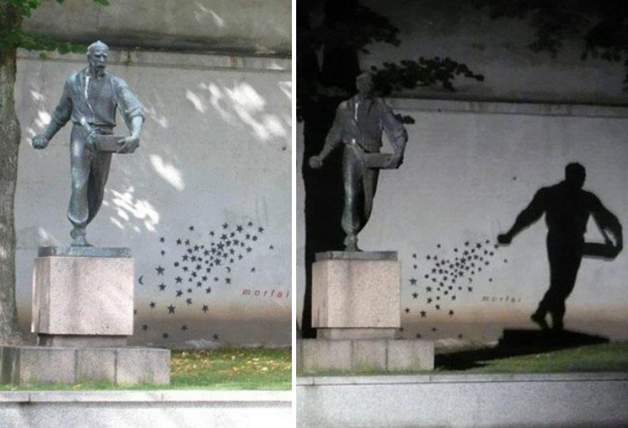 Shadow Street Art, Kaunas, Lithuania