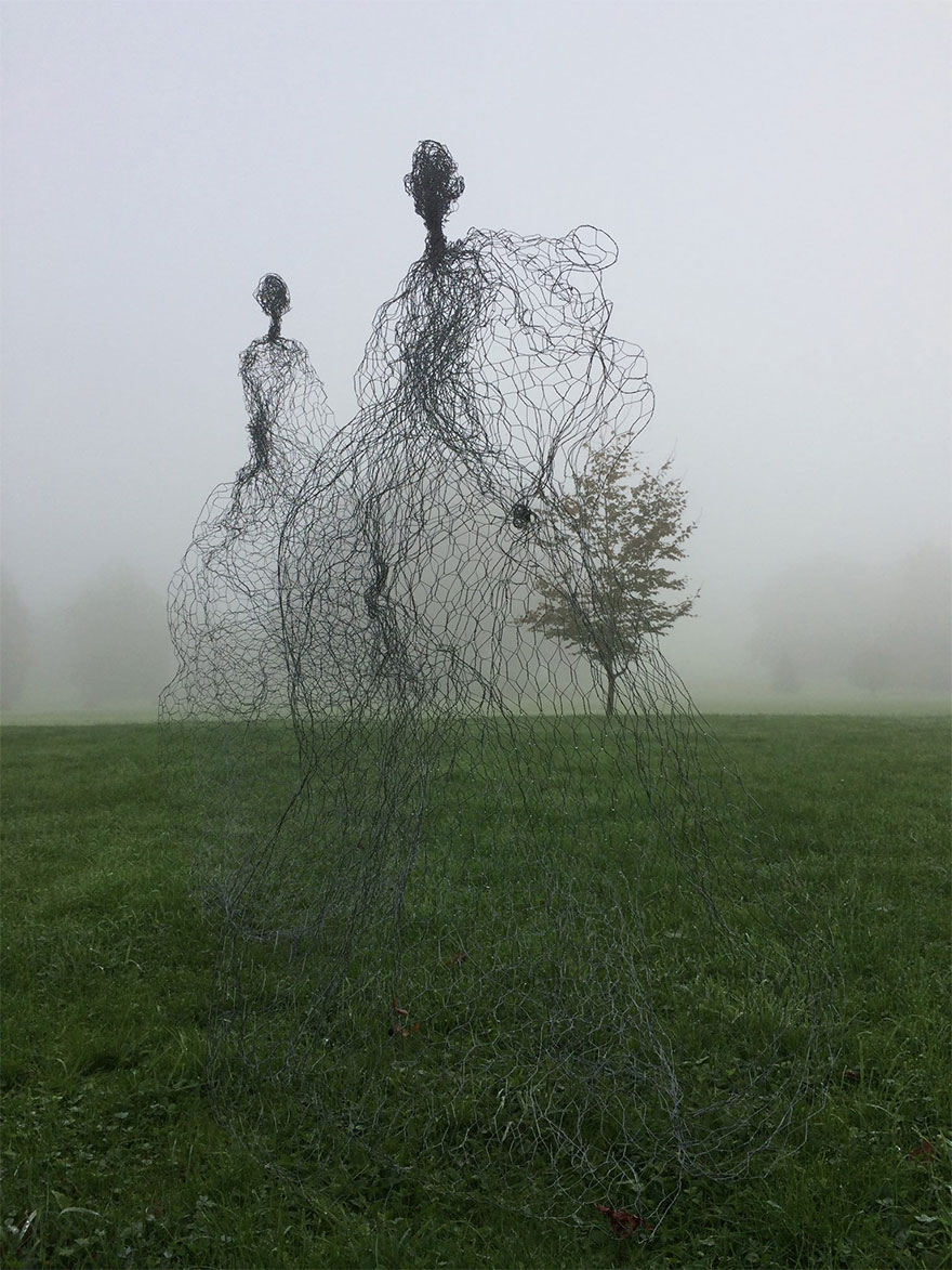 Magic Wire Mesh Sculpture By Pauline Ohrel, France
