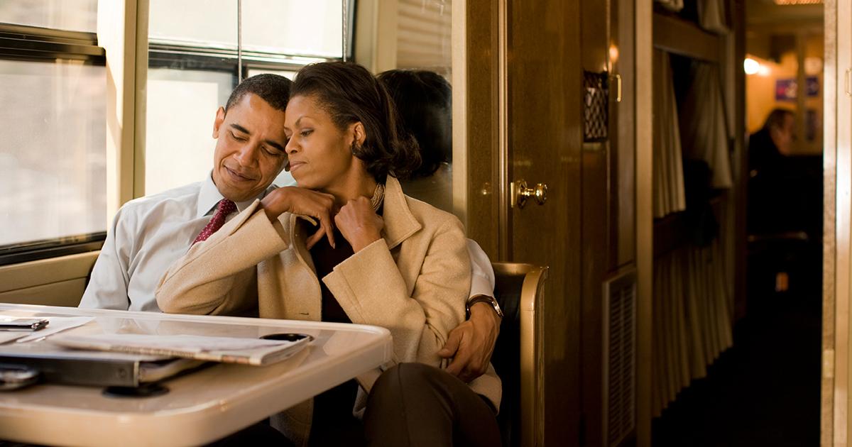 Mişel və Barak Obamanın heç yerdə görmədiyiniz  Love Story -si