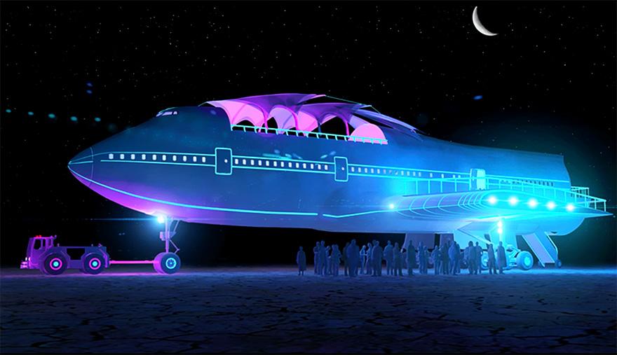 boeing 747 burning man festival big imagination 35