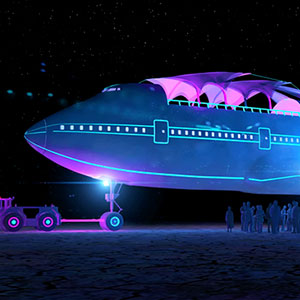 Boeing 747 Transformed Into Largest Art Car Ever At Burning Man