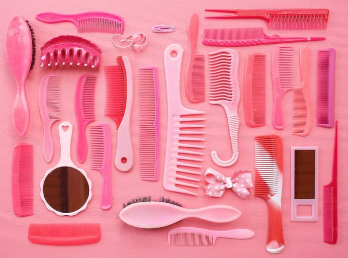 Pink Combs And Brushes