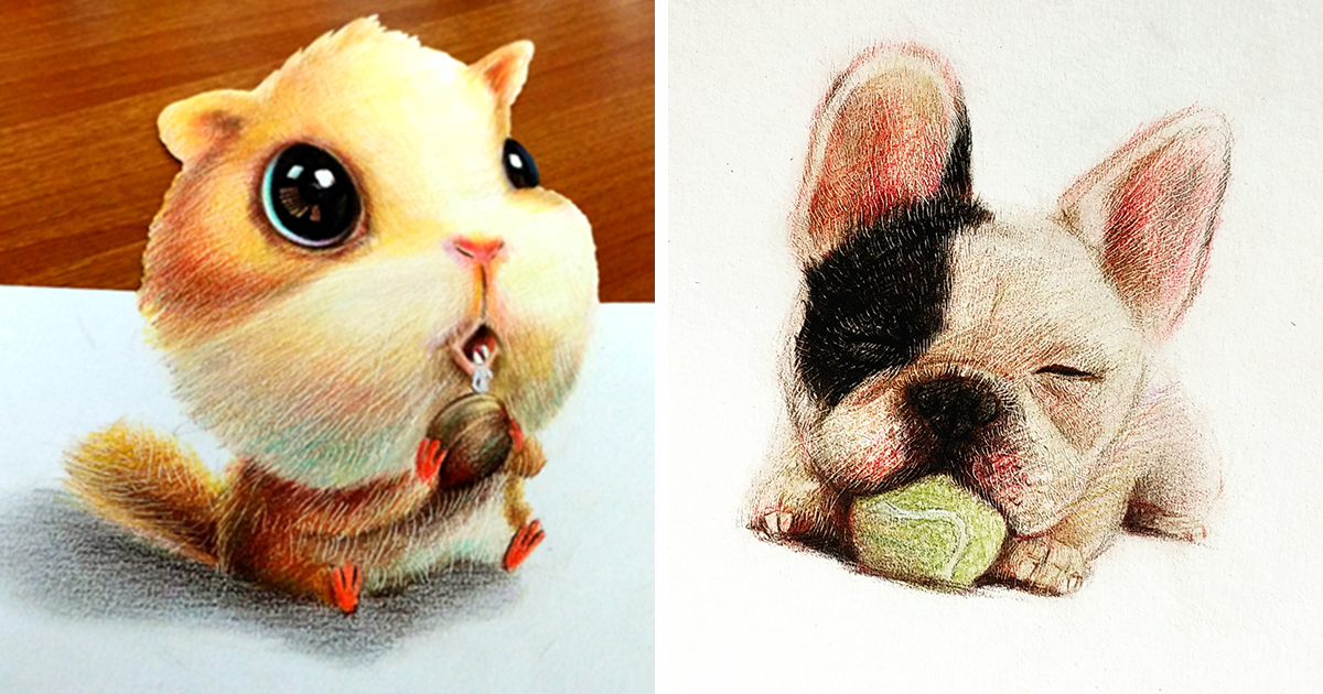 I Draw Furry Adorable Animals To Cure Unhappiness