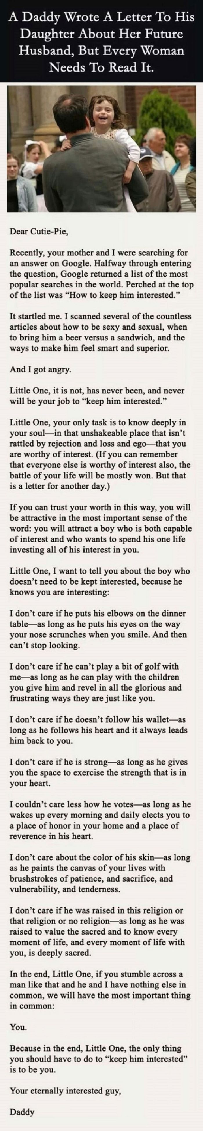 Letter From A Dad To His Daughter