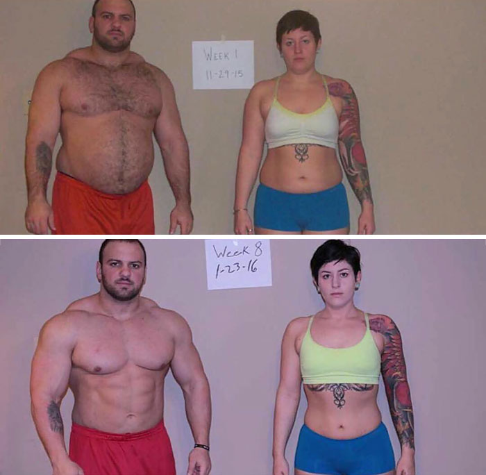 Before 8 Weeks And After Photos Of Couple