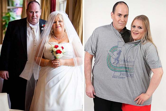 Noel & Leisa Hoey Lost An Astonishing 24 Stone Between Them After Seeing Their Wedding Photos