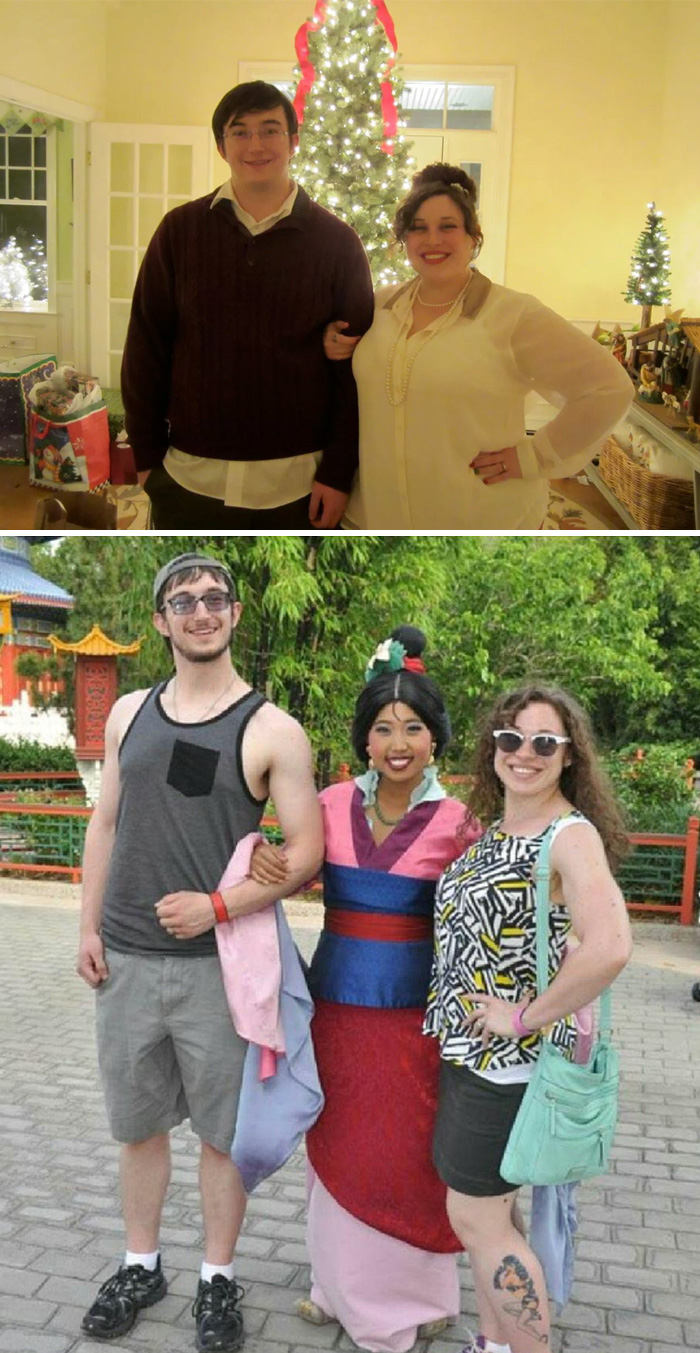 My Wife And I (i'm 25, She's 29), Lost A Combined Total Of 185 Lbs. We Celebrated By Going To Disney!