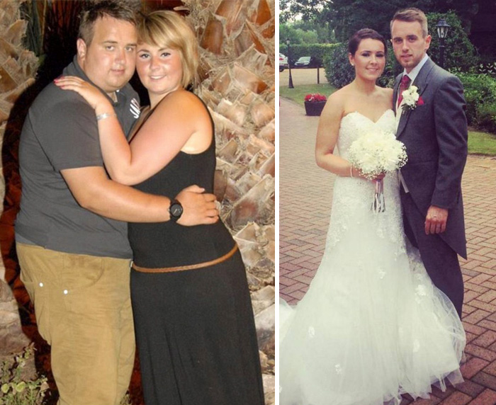 2 This Couple Loses A Combined 133 Pounds For Their Wedding