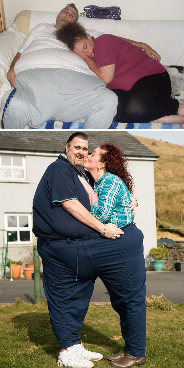 Couple Who Fell In Love In A Health Clinic Lost Over 37st Between Them