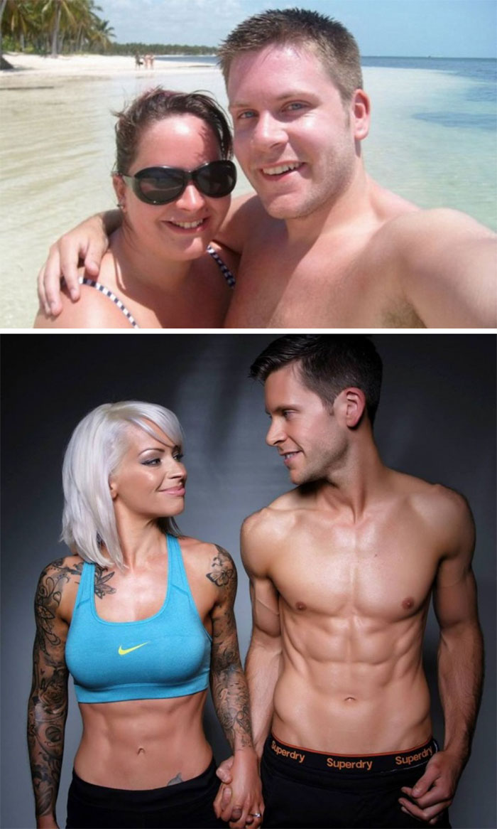 This Couple Refused To Walk Down The Aisle Until They Got In Shape, And 5 Years Later They Married