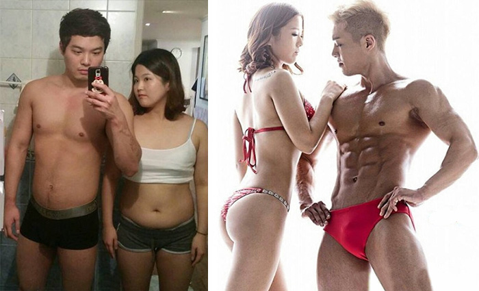 Korean Couple Get Incredibly Fit In Just Five Months