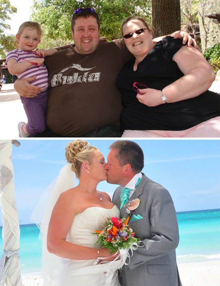 Couple Loses Weight For Their Wedding