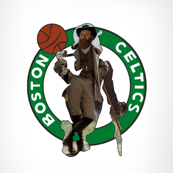 I Combined NBA Team Logos With Classical Paintings