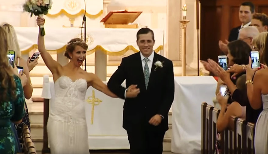 Bride Walked Down The Aisle By Man Who Received Her Father S