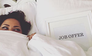 This Woman Did An Engagement Photoshoot With Her Job Offer, And It's Absolutely Hilarious