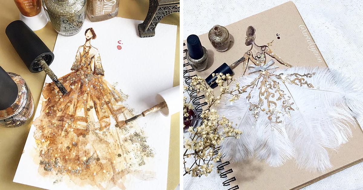 Nail Polish Turned Into Fashion Fantasy | Bored Panda