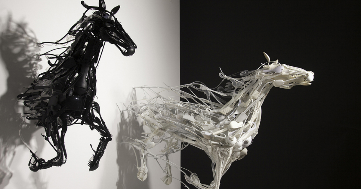 I Recycle Used Plastic Into Sculptures