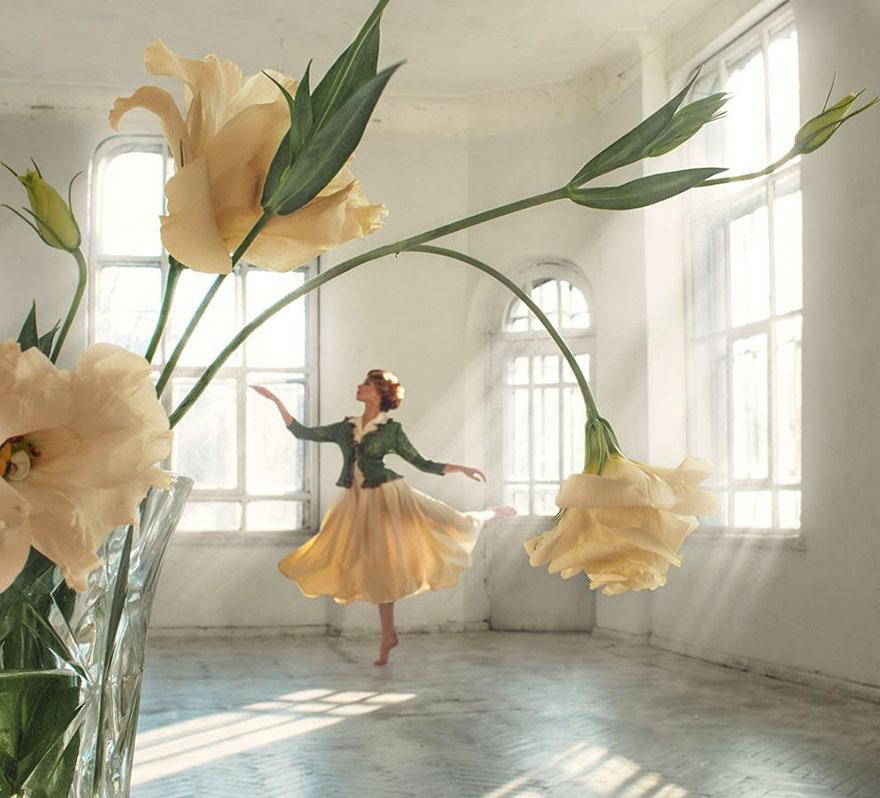 flower-girl-forced-perspective-david-dubnitskiy-1