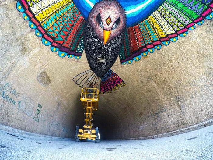flying-eagle-mural-bloop-festival-street-art-spaik-spain-1