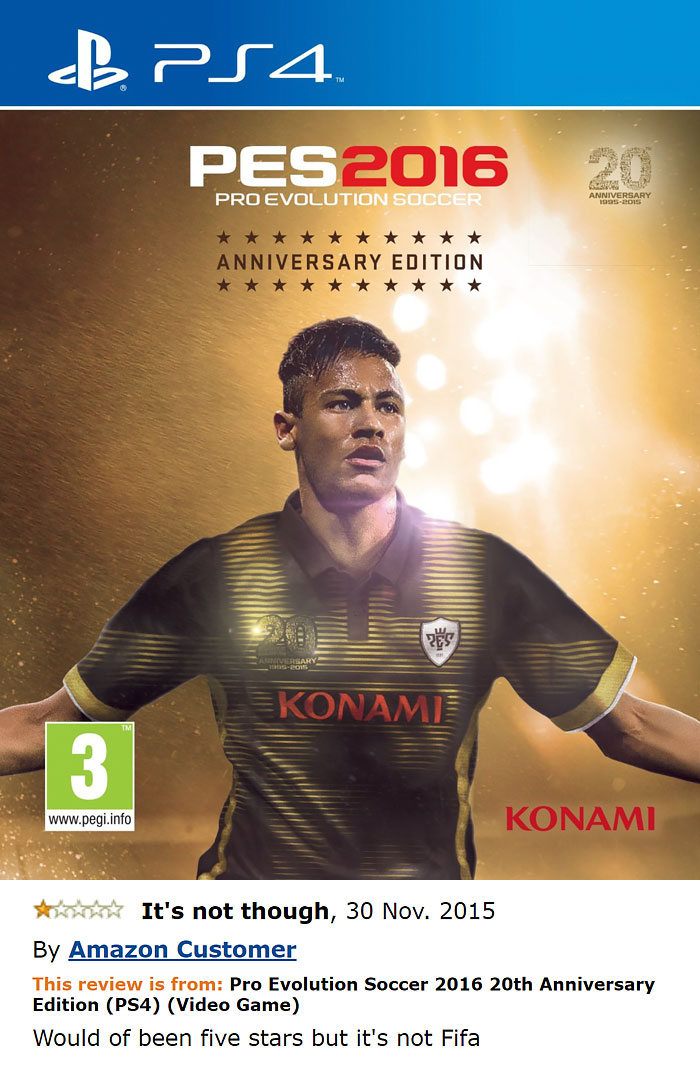 Pro Evolution Soccer 2016 20th Anniversary Edition (ps4)