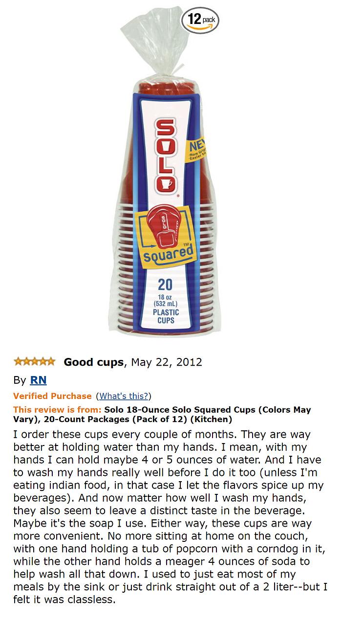 Solo 18-ounce Solo Squared Cups