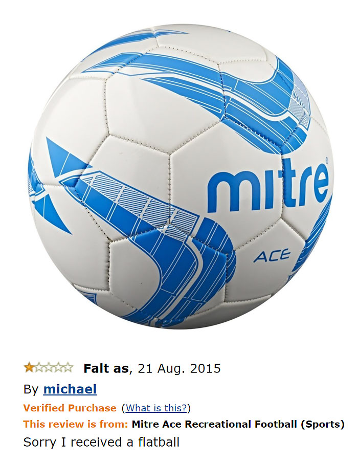 Mitre Ace Recreational Football (ball Is Shipped Deflated)