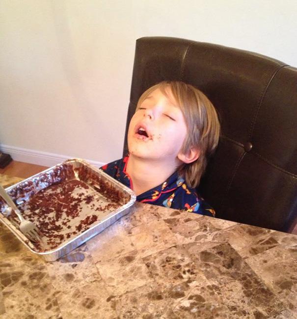Literally Ate Himself To Sleep