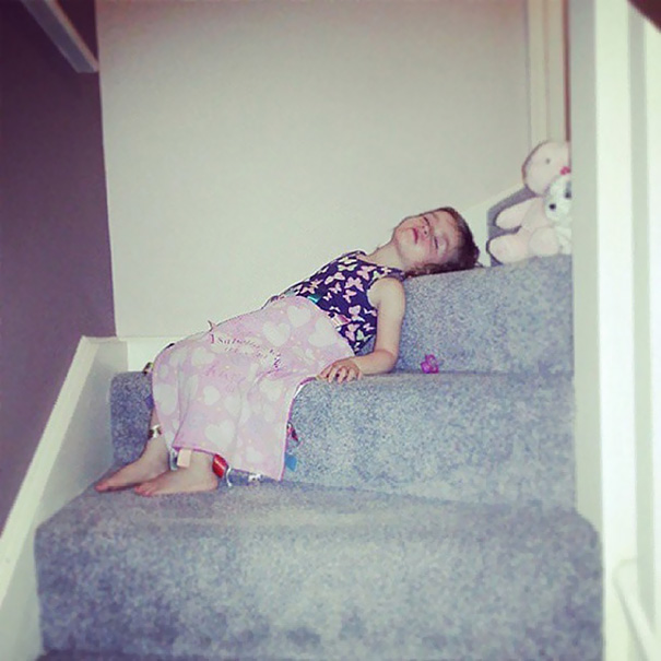 My Baby Girl Not Only Didn't Make It To Bedtime But She Also Didn't Make It To Bed
