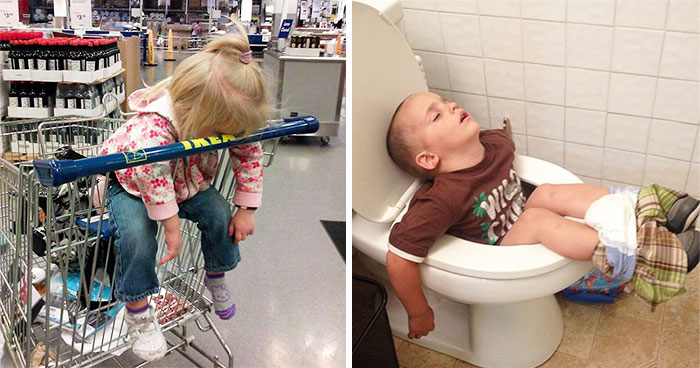 15+ Hilarious Pics That Prove Kids Can Sleep Anywhere