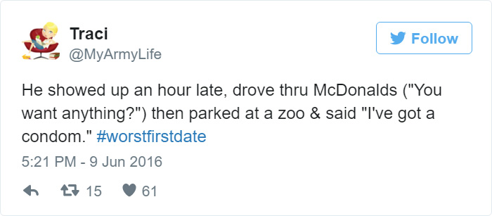 Hilarious Firstdate Disasters That Will Make You Laugh  Bored Panda Funny First Date Tweets