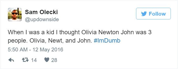 I Am Dumb Tweet
