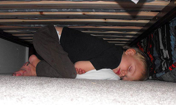 Napping Under The Bed
