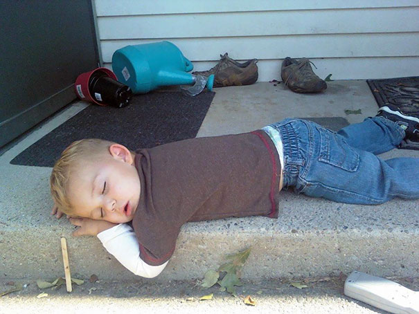 Napping On The Doorstep