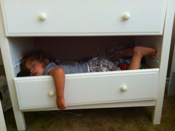 Napping In A Drawer